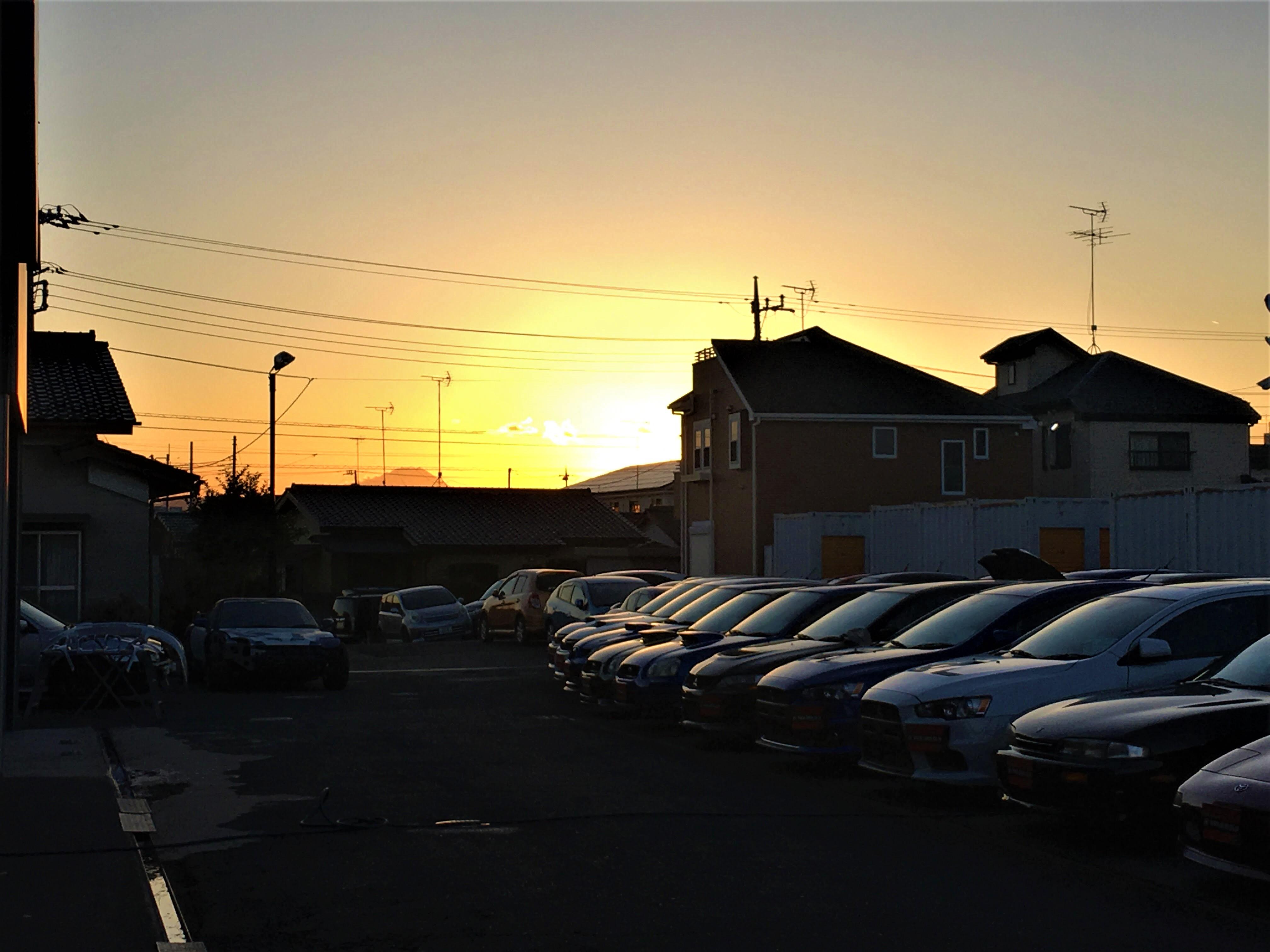 夕日 富士山 GTNET西東京